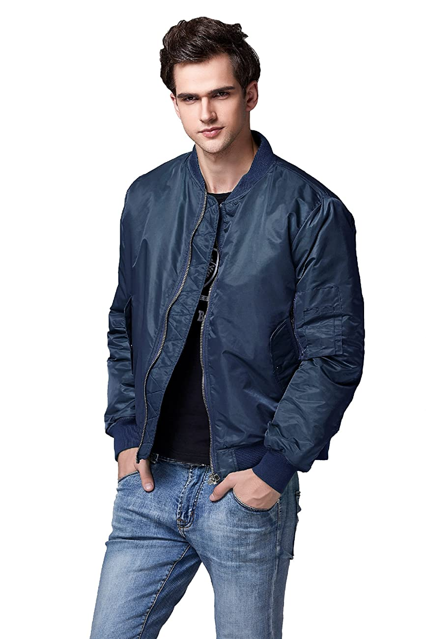 Neo-wows Men's Bomber Flight Jacket Thick 2