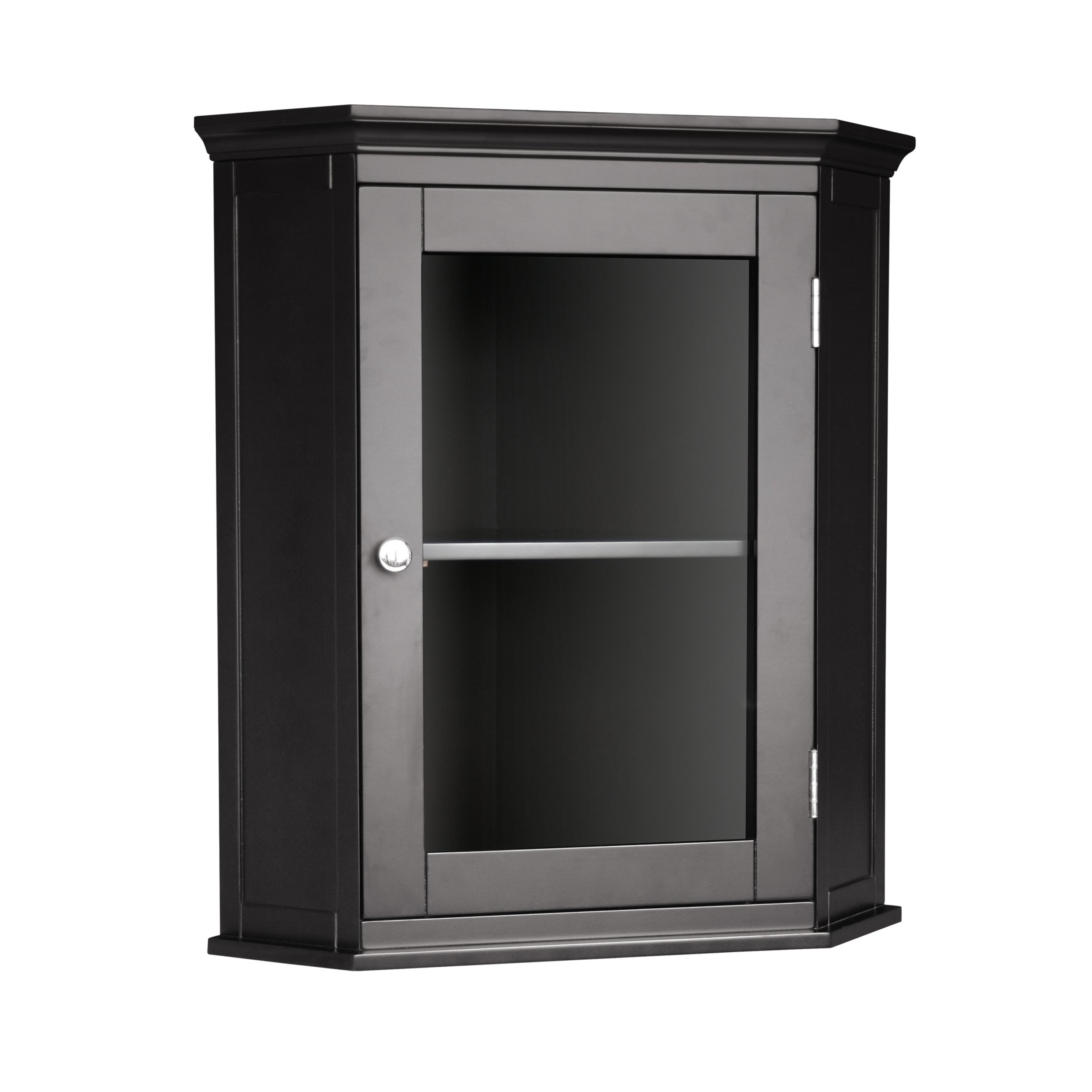 Elegant Home Fashions Madison Avenue Corner Medicine Wall Cabinet
