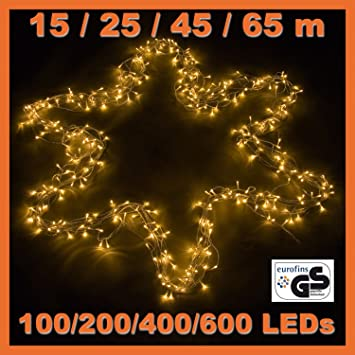 100 200 400 600 LED Lichterkette Warm Weiss, Kalt Weiss, Bunt, 25m Länge,  Innen Und Außen, GS, IP44, Weihnachtsdeko Weihnachtsbeleuchtung Deko  Christmas   ...