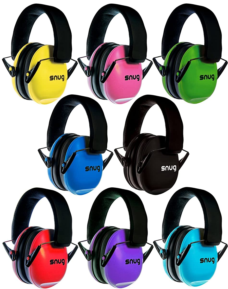 Snug Safe n Sound Kids Earmuffs / Hearing ProtectorsAdjustable Headband Ear Defenders For Children and Adults (Aqua Blue)