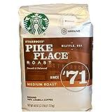 Starbucks Pike Place Roast Ground Coffee, Medium Roast (40 oz bag) (Tamaño: 2.5 Pounds)