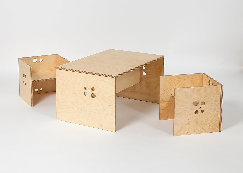 Kindersitzgruppe natur Holz incl. Sitzkissen günstig online kaufen
