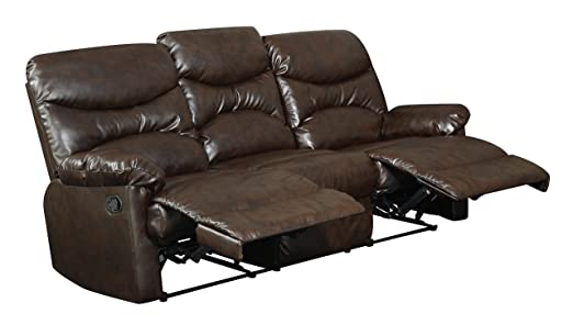 Glory Furniture G450-RS Reclining Sofa, Brown