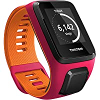 Tom Tom Runner 3 GPS Running Watch with Heart Rate Monitor & Music (Dark Pink/Orange)