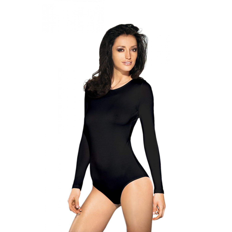 Damen Langarm Body Unterwäsche Bodywear Tanz Bodys in Schwarz Weiß / Made in EU online bestellen
