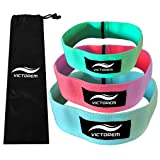 Victorem Booty Hip Bands – Cotton Fabric Resistance Fitness Loop Bands – Exercise Legs & Butt – Workout & Activate Glutes & Thighs – Thick, Wide, Cloth Bootie Training & Lifting – Set of 3 – Women's
