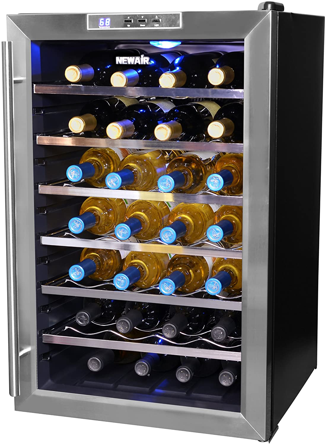 NewAir AW281E 28 Bottle Thermoelectric Wine Cooler, Black at Sears.com