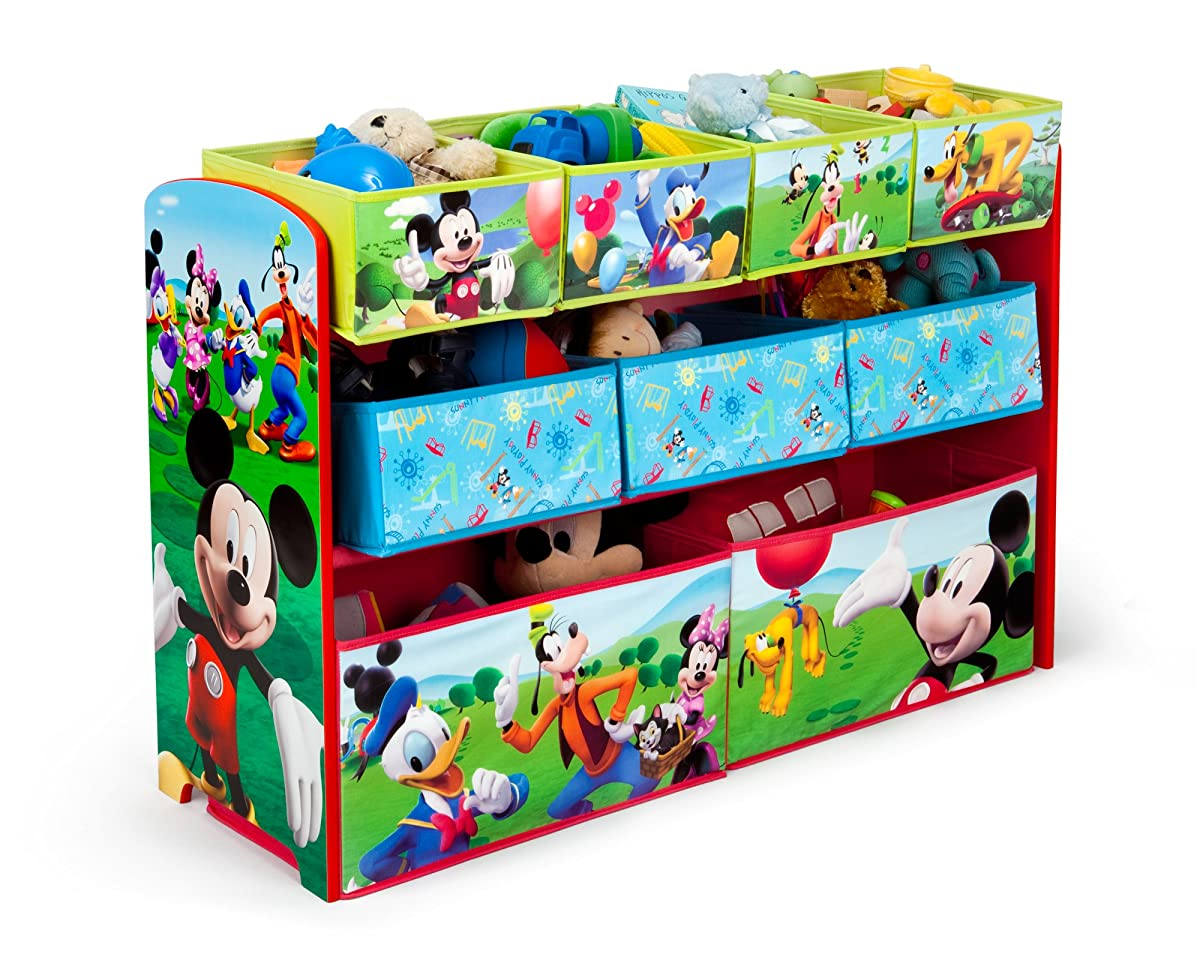 Paw Patrol Toy Organizer Bin Cubby Kids Child Storage Box: Delta Children Disney Mickey Mouse Deluxe Multi-Bin Toy