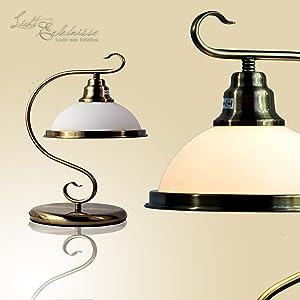 Innen  Tischleuchte im Jugendstil 1/5/702 aus Metall und Echtglas IP20 Jugendstilleuchte Lampe Leuchte   Überprüfung und weitere Informationen