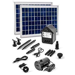 16 Watt Solar Pumpe mit Akku und LED Springbrunnen NASP3Z Solarpumpe Teichpumpe  GartenKundenbewertung und Beschreibung
