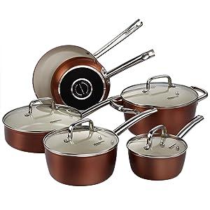 Nonstick ceramic cookware width=