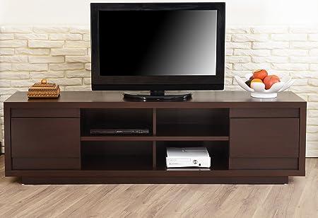 Furniture of America Kirry Multi-Storage TV Stand, Walnut