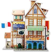 BUREI 73-Piece Jigsaw Educational Toys DIY for kids Hotel 3D Puzzle