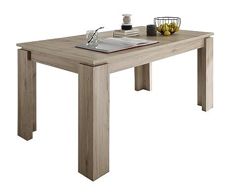 Maisonnerie 1100-162-90 Table Extensible Chêne Foncé de San Remo LxLxH 160-200 x 90 x 77 cm