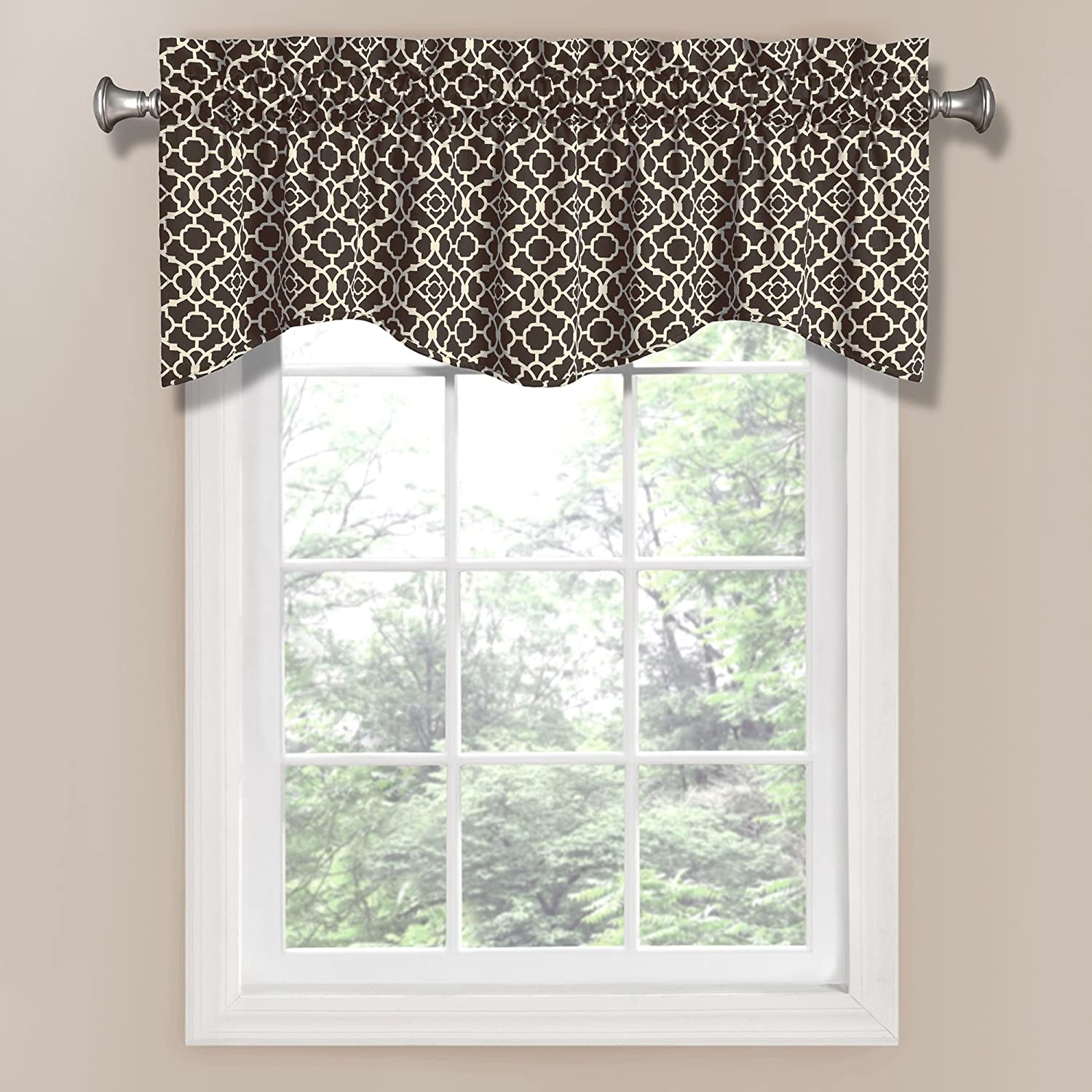 Elegant Kitchen Curtains Valances: Waverly Lovely Lattice Valance, Onyx , New, Free Shipping
