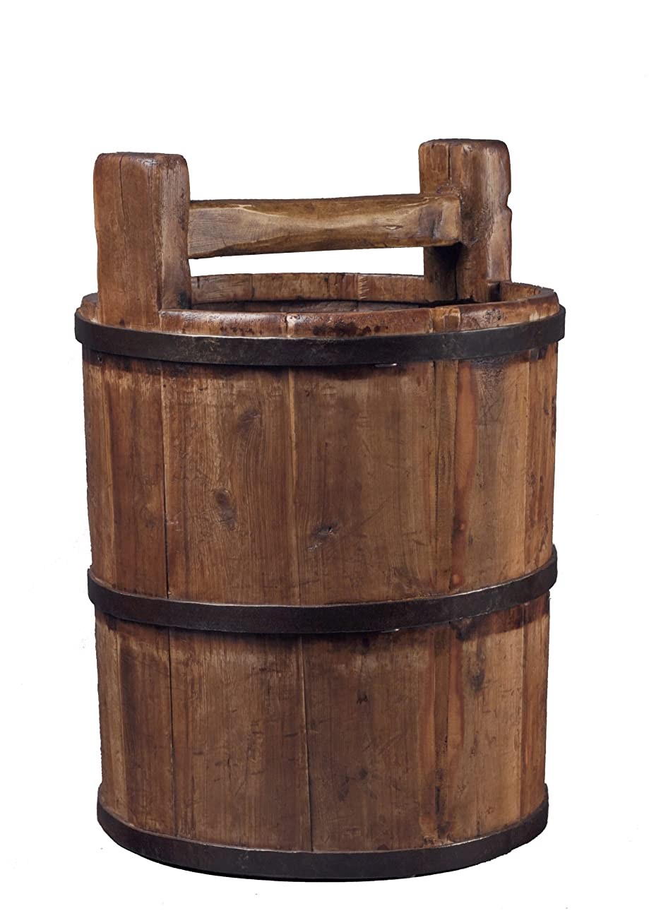 Antique Revival Wooden Soy Sauce Bucket, Natural 0