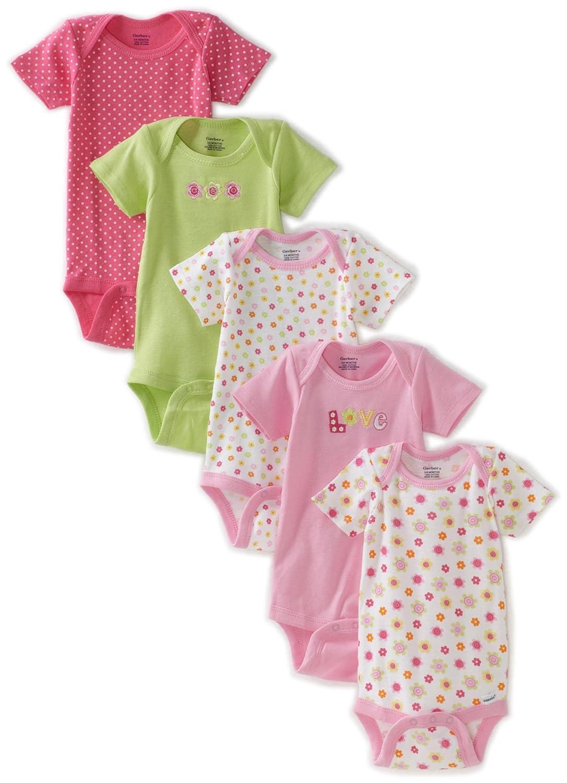 A Store Clothing Gerber Baby Girls Newborn 5 Pack Variety