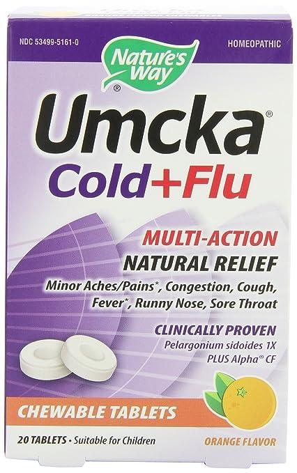 Отзывы Nature's Way Umcka Cold and Flu Chewable