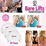 Bare Lifts Tape - Instant Boobs Lift Pasties - Breast Push It Up Bust Shaper Bra Adhesive (Color: White, Tamaño: One Size)