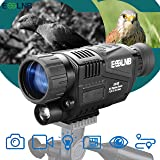 ESSLNB Night Vision Monocular 5X40 Night Vision Infrared Scope HD Digital Vision Scope Take Photos and Video Playback 1.5