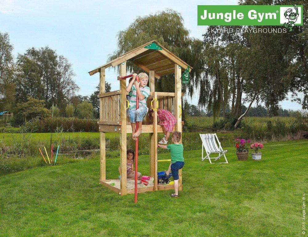 Spielturm Jungle Gym Castle Set mit Feuerwehrstange Sandkasten Kletterturm – Jungle Gym (inkl. Holzpaket) günstig bestellen