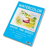 Bellofy 50 Sheet Watercolor Paper Pad - 130 IB / 190 GSM Weight - 9x12 in Size - Cold Press Paper - Water Painting Art Notebook Pad (Tamaño: 9-x-12-Inch)