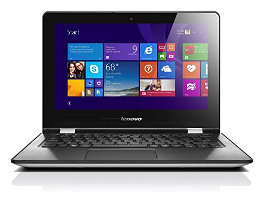 "Lenovo Yoga 300-11 Ordinateur portable Hybride Tactile 11"" Blanc (Intel Celeron, 4 Go de RAM, Disque dur 500 Go, Intel HD Graphics, Mise à jour Windows 10 gratuite)"