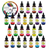 My Slime 24 Color Premium Slime Coloring Set, Large 20 ml Bottles - Non-Toxic Dyes, Works in White & Clear Slime Making Glues, Soaps - Color Mixing Wheel - Includes 5 Neon Colors, Pink, Blue, Lime (Tamaño: 24-Colors)