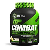 MusclePharm Combat Protein Powder - Essential blend of Whey, Isolate, Casein and Egg Protein with BCAA's and Glutamine for Recovery, Vanilla, 4 Pound, 54 Servings