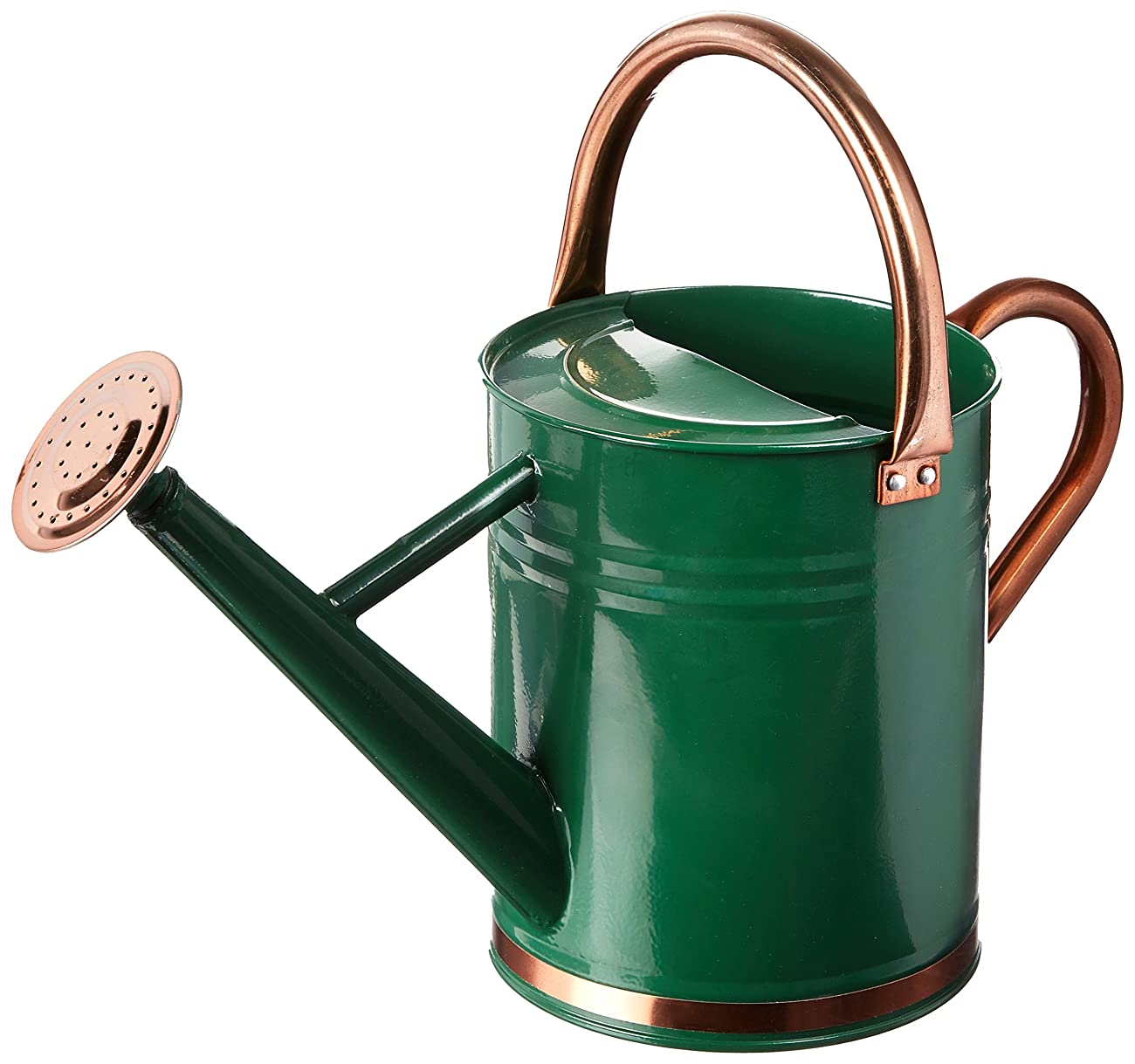 Gardman 8327 Hunter Green Galvanized Steel Watering Can with Copper Accents, 1-Gallon 0
