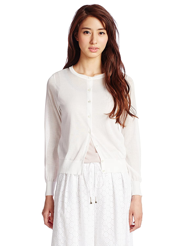 (デミルクスビームス) Demi-Luxe BEAMS / 18ゲージ クルー カーディガン 68150222231 5 OFF WHT ONE SIZE : 服&ファッション小物通販 | Amazon.co.jp
