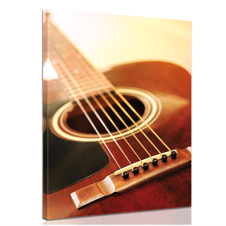 """Bilderdepot24 Bild auf Leinwand """"Gitarre"""" 40x50cm – fertig gerahmt, direkt vom Hersteller jetzt kaufen"""