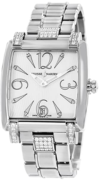 Ulysse Nardin Ladies Caprice Stainless Steel Diamonds Watch 133-91C-7C/691