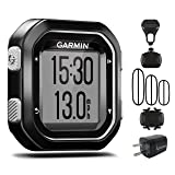 Garmin Edge 25 GPS Cycling Computer 010-03709-20 with Garmin Speed and Cadence Sensors with extra Wearable4U Wall Charging Adapter Bundle (Color: Black)