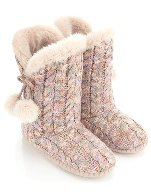Hot Girls Clothing & Accessories: Monsoon Women's Blossom Pom-Pom Slipper Boot