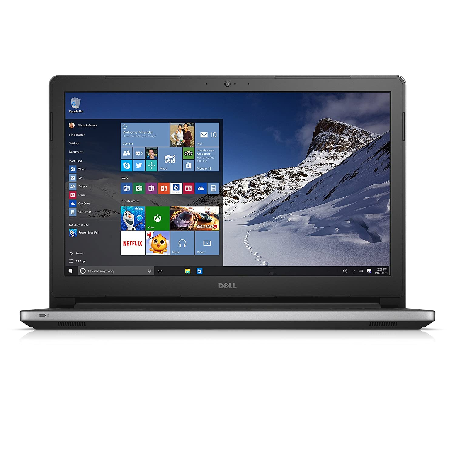 Dell Inspiron i5558-2859BLK 15.6 Inch Touchscreen Laptop (Intel Core i3, 8 GB RAM, 1 TB HDD)