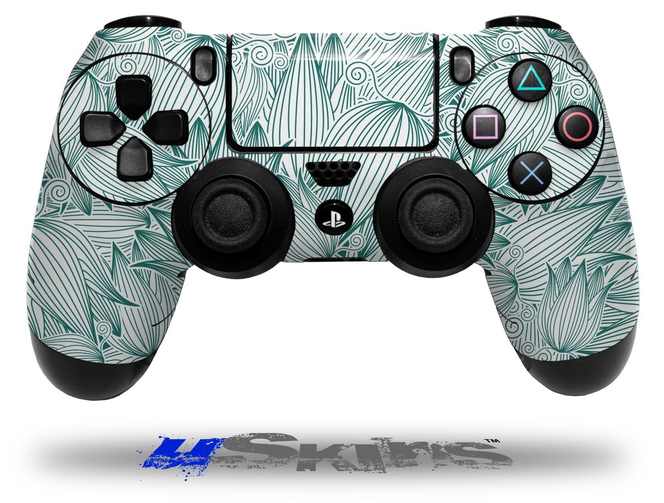 Flowers Pattern 09 - Decal Style Wrap Skin fits Sony PS4 Dualshock 4 Controller - CONTROLLER NOT INCLUDED