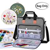 Luxja Embroidery Project Bag, Embroidery Kits Storage Bag (Bag Only), Gray (Color: Gray)