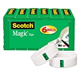 Scotch Brand Magic Tape, Versatile, Photo-Safe, Great for Gift Wrapping, 3/4 x 1000 Inches, Boxed, 6 Rolls (810K6)