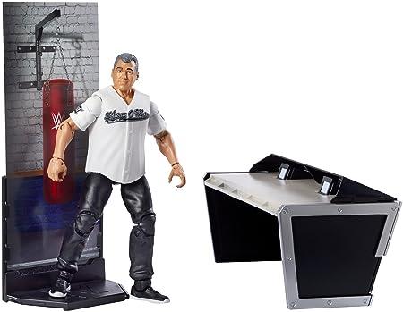 Wwe shane mcmahon mattel elite 50 jouet figurine lutte animateur table accessoire wrestlemaina 30