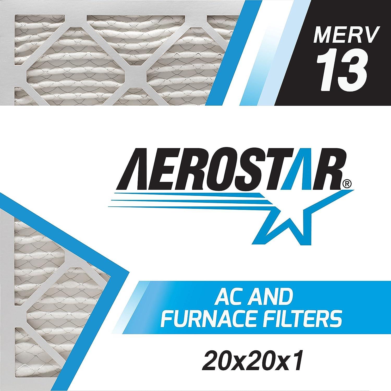 20x20x1 AC and Furnace Air Filter by Aerostar - MERV 13, Box of 6