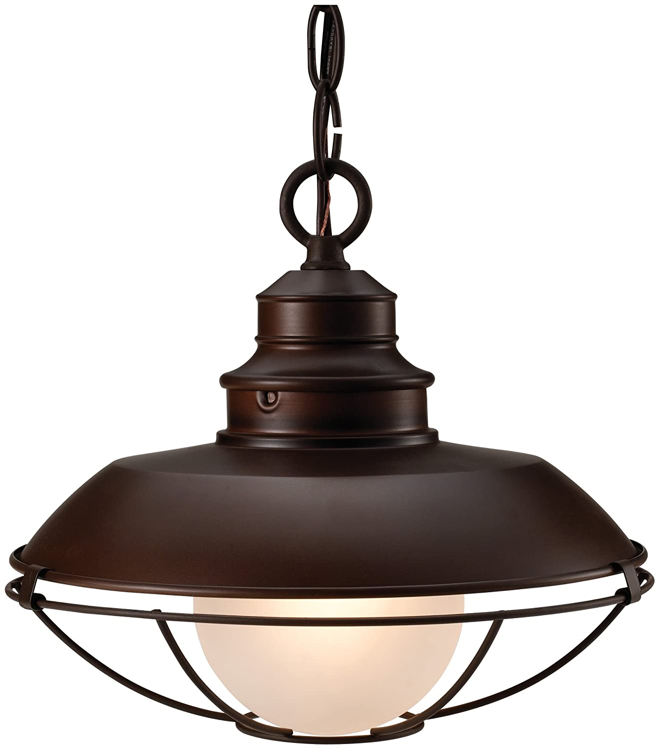 Light Down Hanging Fixture Vintage Ceiling Barn Style