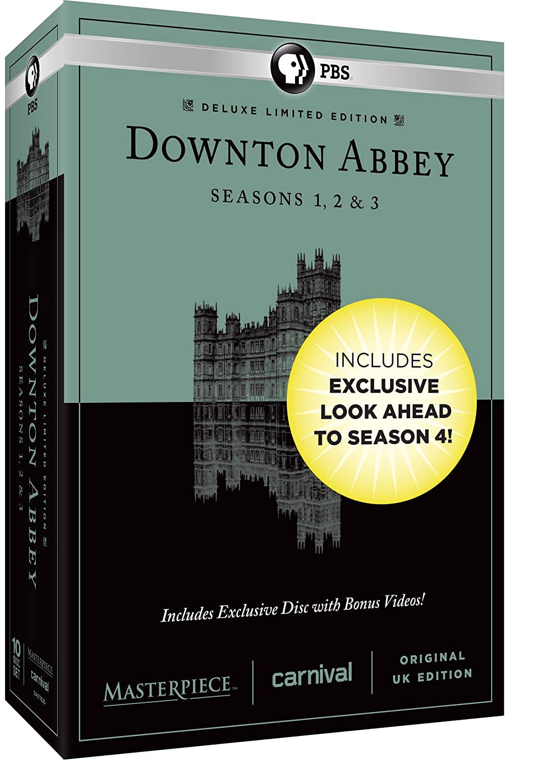 Masterpiece: Downton Abbey Seasons 1, 2 & 3 Deluxe Limited Edition (Amazon Exclusive Season 4 Bonus Features) $36.99