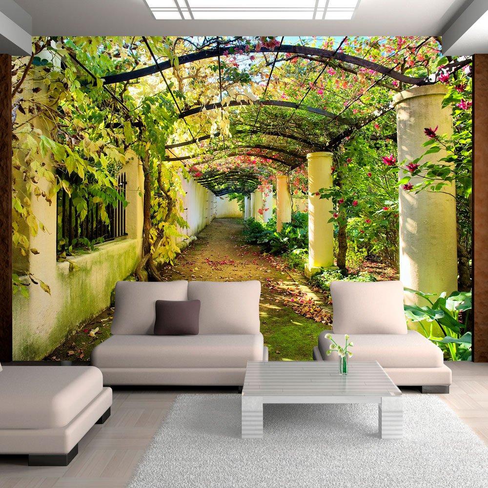 crea un angolo verde con la carta da parati ideacolor. Black Bedroom Furniture Sets. Home Design Ideas