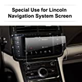 LFOTPP 2014-2017 Lincoln Continental Navigator MKZ MKC MKX Glass Car Navigation Screen Protector, Clear Tempered Glass In-Dash Center Touch Display Screen Protector Anti Scratch High Clarity