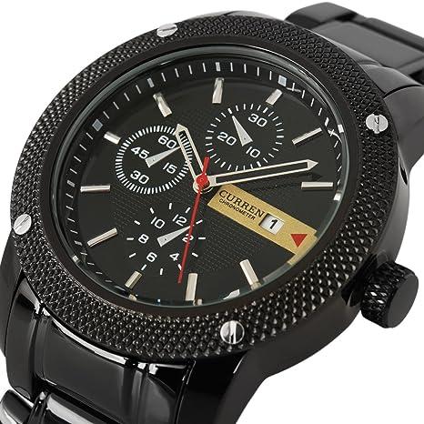 Luxury-New-Curren-Army-Black-Stainless-Steel-Date-Sports-Quartz-Mens-Wrist-Watch