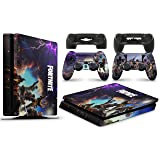 Gizmoz n Gadgetz GNG PS4 SLIM Console FORTNITE Skin Decal Vinal Sticker + 2 Controller Skins Set (Color: FORTNITE, Tamaño: Playstation 4 Slim)