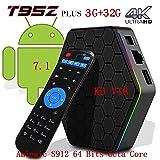 [2018 New Version]Kodi 17.6 Android T95Z TV Box + 3G RAM+32G ROM Android 7.1.2 Bluetooth TV BOX UHD 4K /64Bit/Amlogic S912 8 Core+ Mini Wireless Keyboard