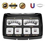 Sec7 Dual Magnetic Eyelashes No Glue Best Full Strip Fake Lashes for Natural Look(1+2)2
