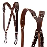 Clydesdale Pro-Dual Handmade Leather Camera Harness, Sling & Strap RL Handcrafts. DLSR, Mirrorless, Point & Shoot Made in The USA (Coffee, Medium) (Color: Coffee, Tamaño: Medium)